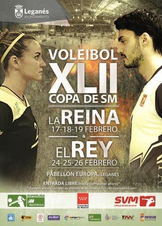 Cartel Copas de voleibol en Leganés