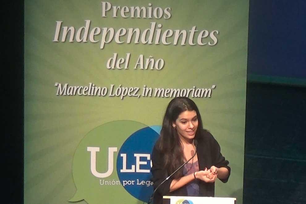 Claudia Traisac, premiada por ULEG