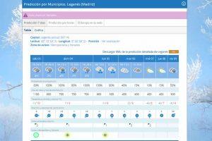 nieve leganes prevision domingo
