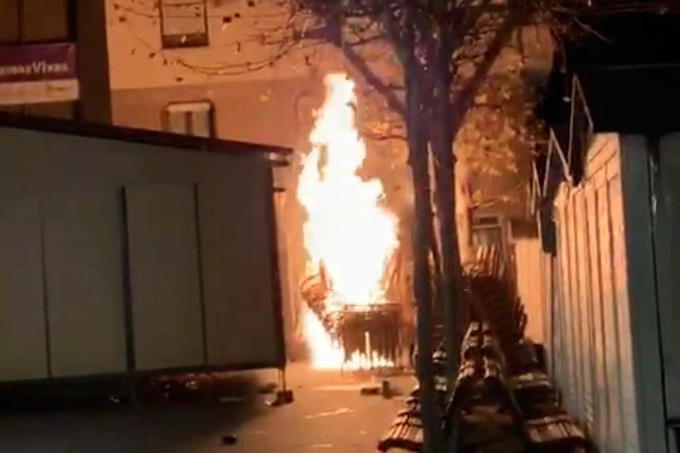 Un Incendio Destroza El Belén Municipal De Leganés Que Iba A